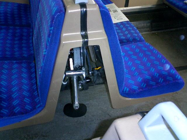 On Train - behind seats