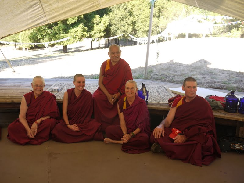 Rinpoche with Sangha from Land of Calm Abiding, CA