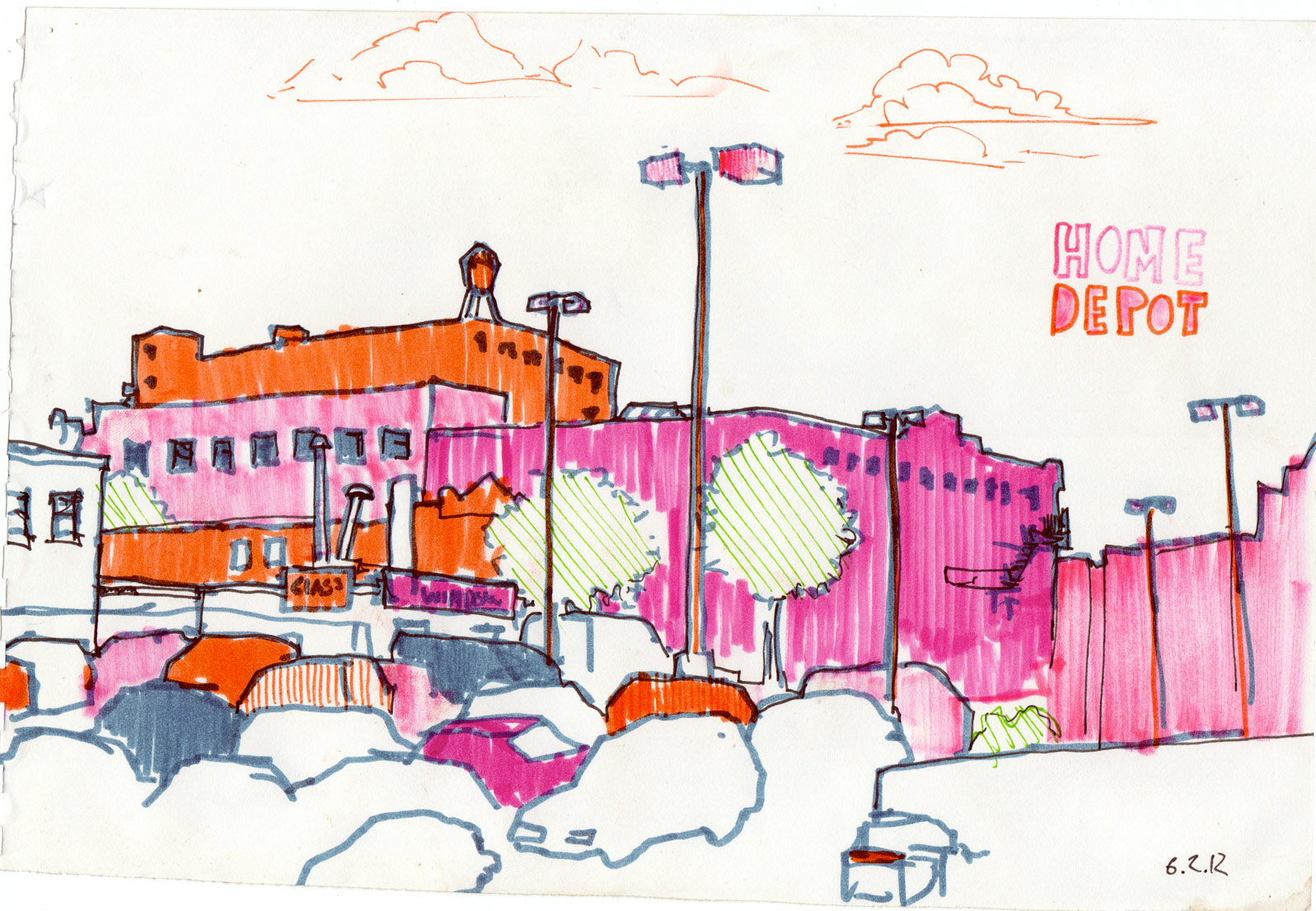 Home Depot 11x17 pen and ink on paper