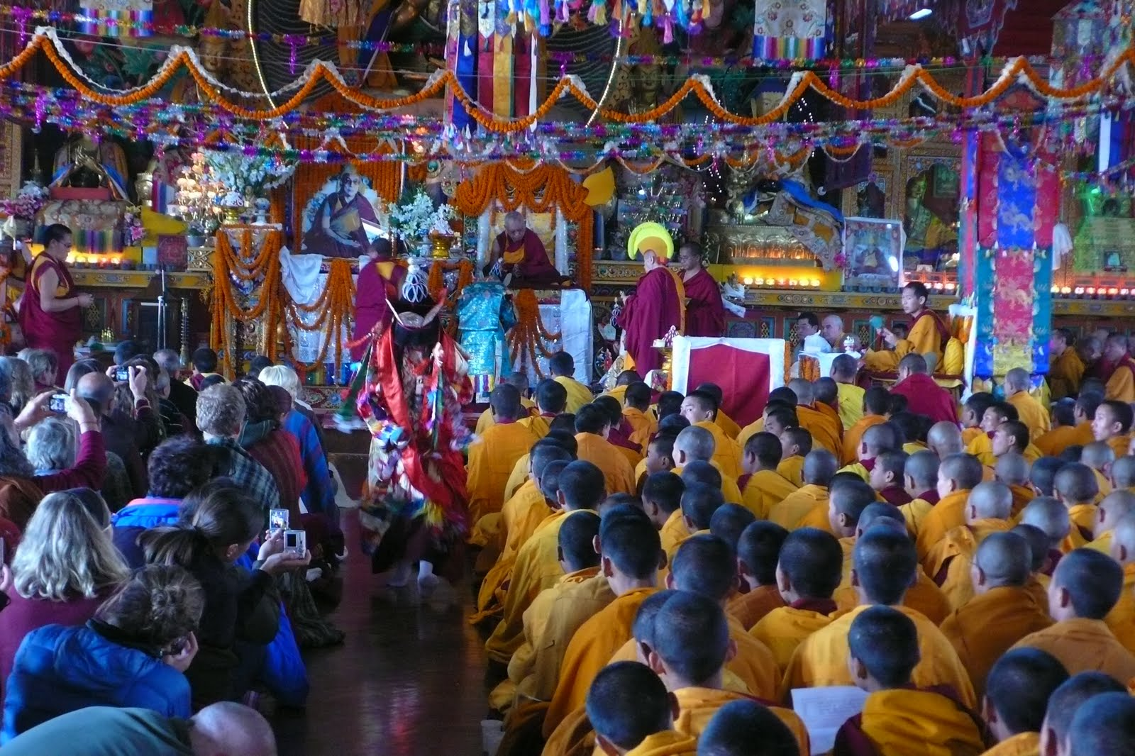 Long life puja at Kopan Monastery, Dec 2009.