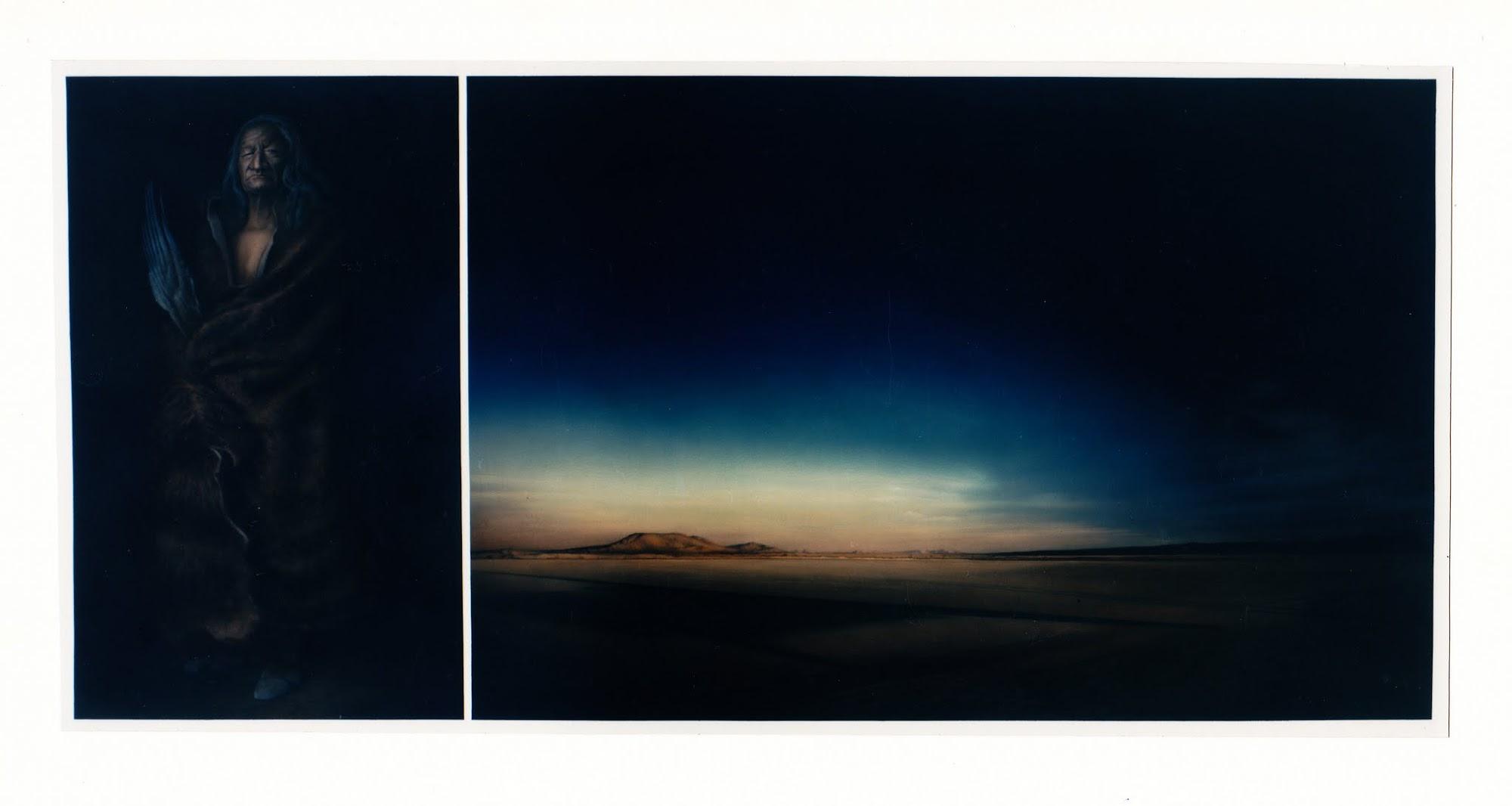 Spaetere Erinnerung 1994 Aquarell 92 x 194 cm