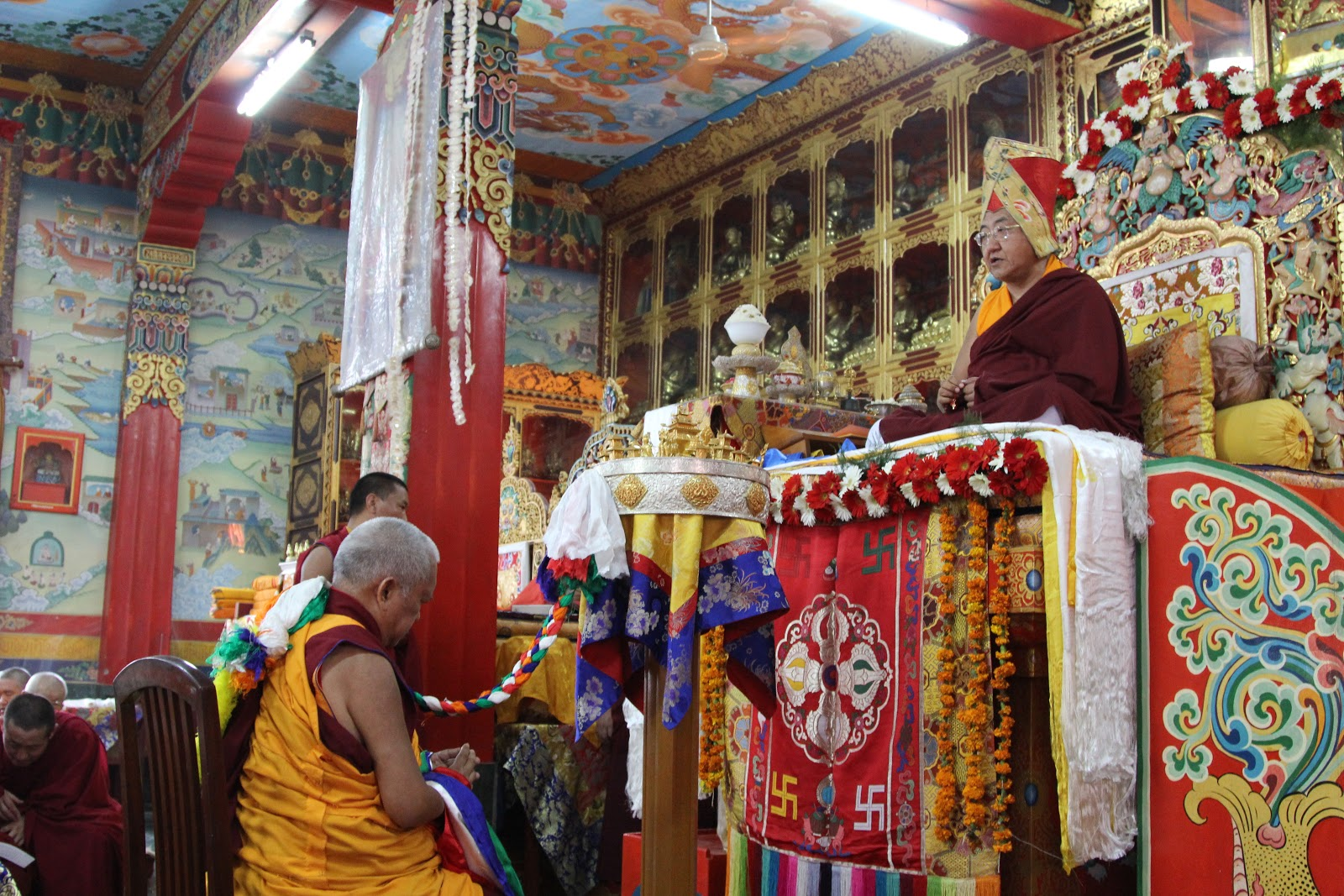 Offering long life pujas for Gurus