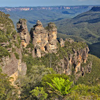 Guess how they name that? Three Sisters, of course
