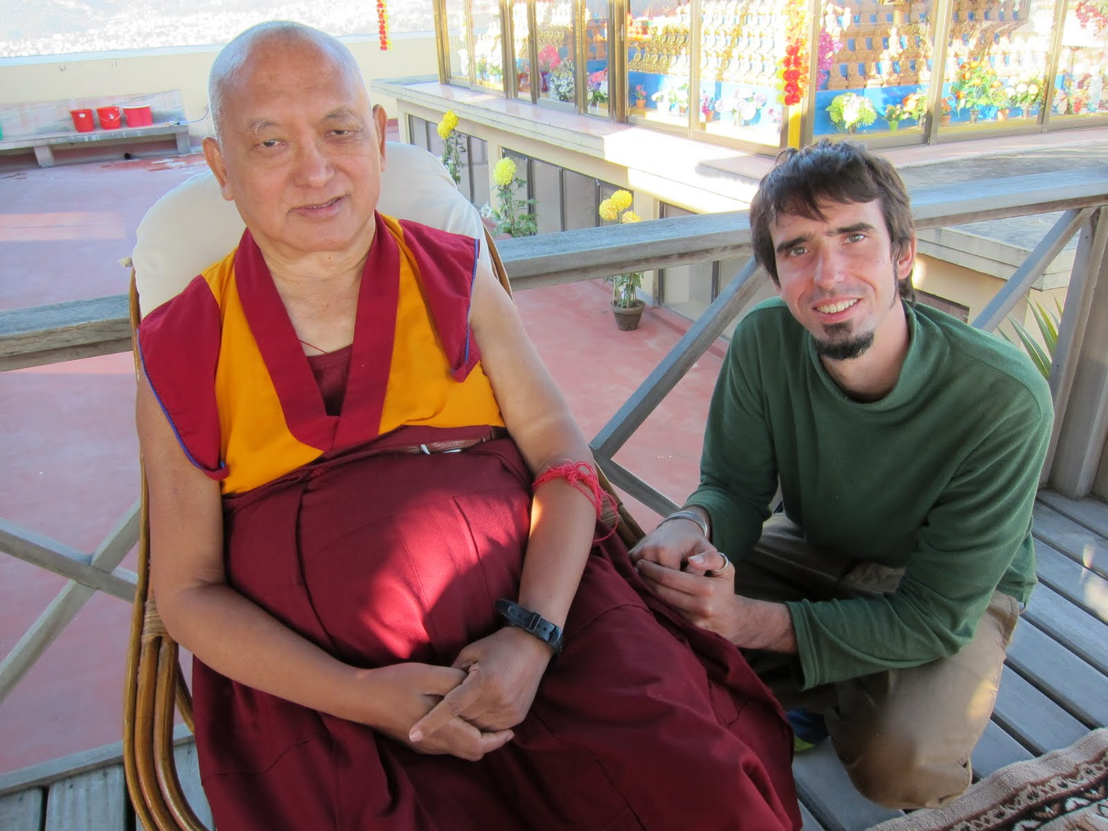 With Lama Zopa Rinpoche Kopan Monastery December 2012