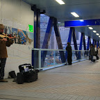 White people playing violins in public places? Hong Kong is full of contrasts :-)