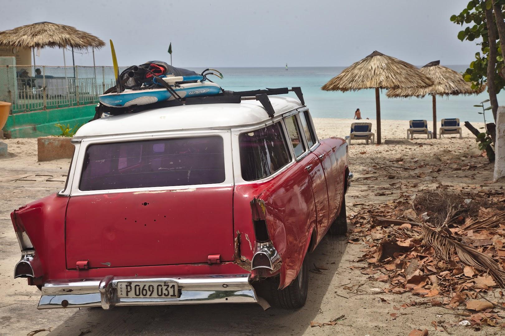 Cuban hippies at the beach