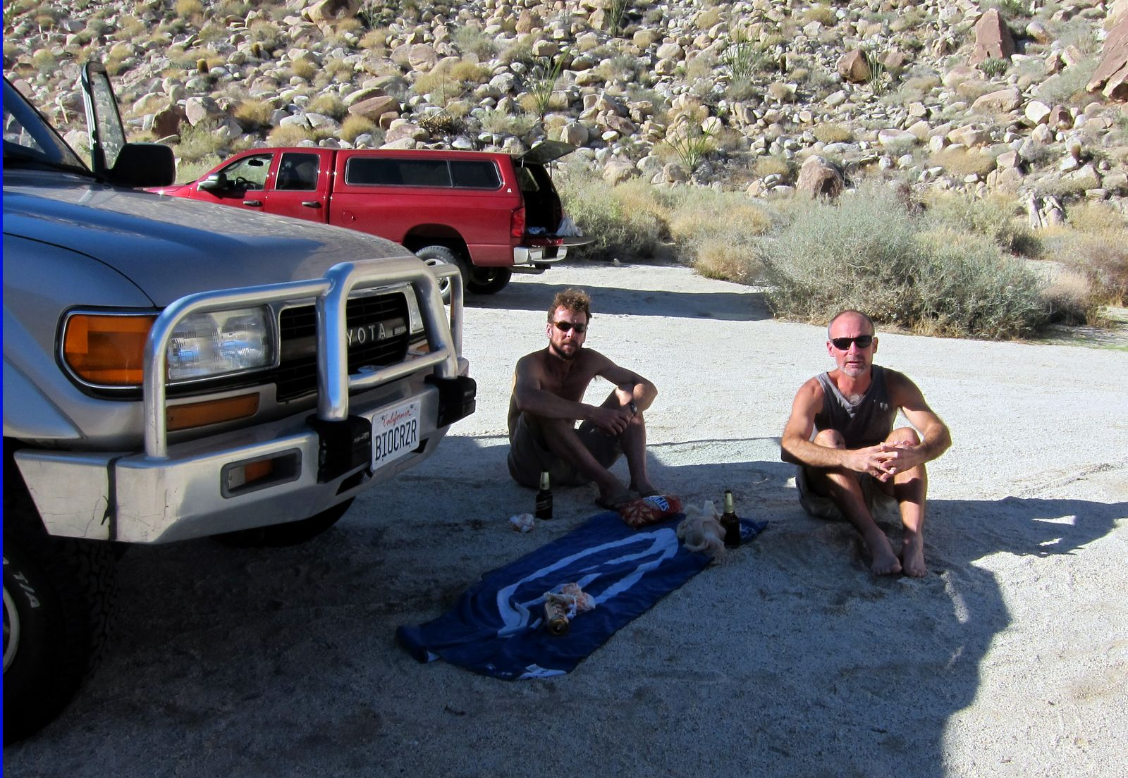 """Bob and Daren take a well deserved """"Bohemia"""" break after the hike."""