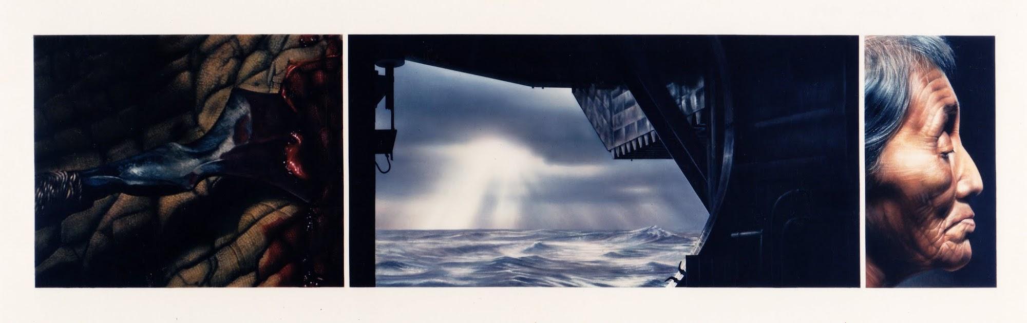 Zeitkeim   1994   Aquarell   45 x 171 cm