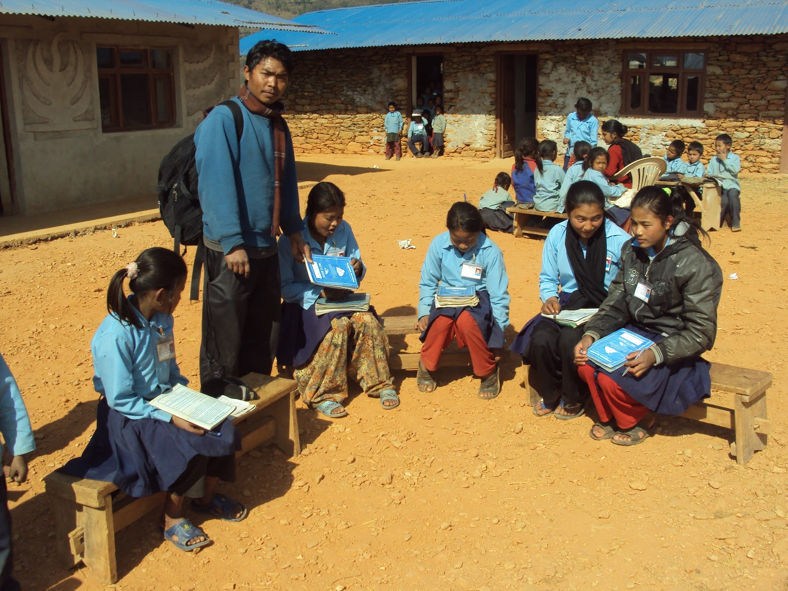 small school sponsored in rural areas of Nepal