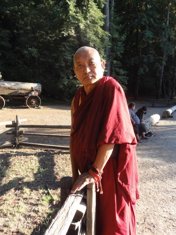 Rinpoche blessing the Chandelier tree in Leggett