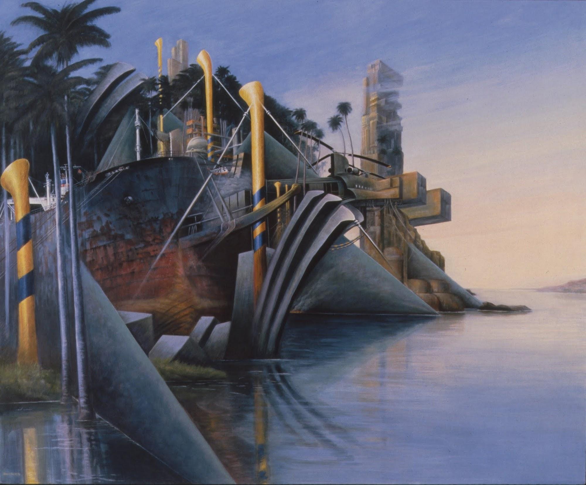 Ostwind   Aus dem Zyklus 'Die vier Winde'   1982   Eitempera auf Leinwand   105 x 125 cm