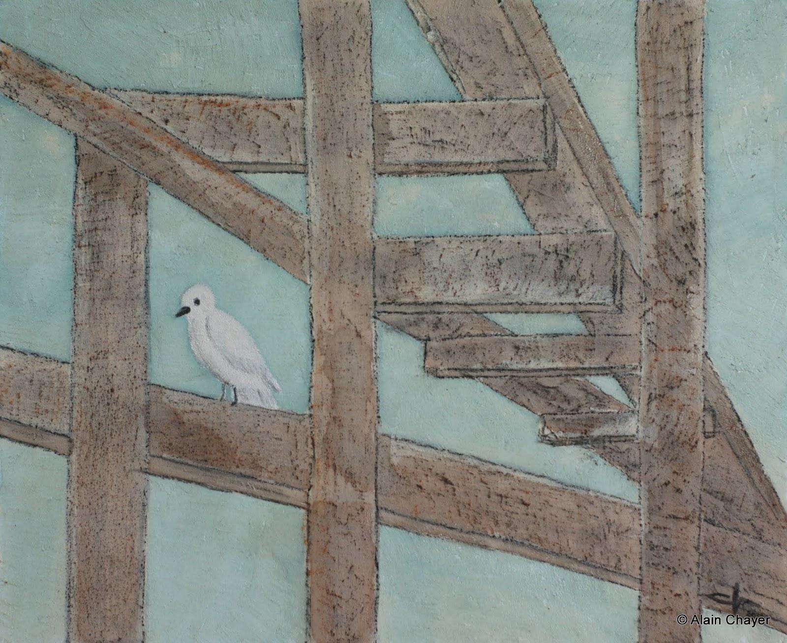 242 - Pax - 2013 - 73 x 60 - Acrylique, aquarelle et sable sur toile