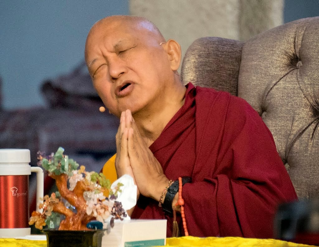 Lama Zopa Rinpoche at the CPMT 2014 meeting, Australia, September 2014. Photo by Andy Melnic.
