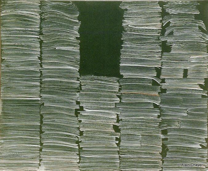 040 - Le Dossier - 1993 46 x 38 - Acrylique sur toile