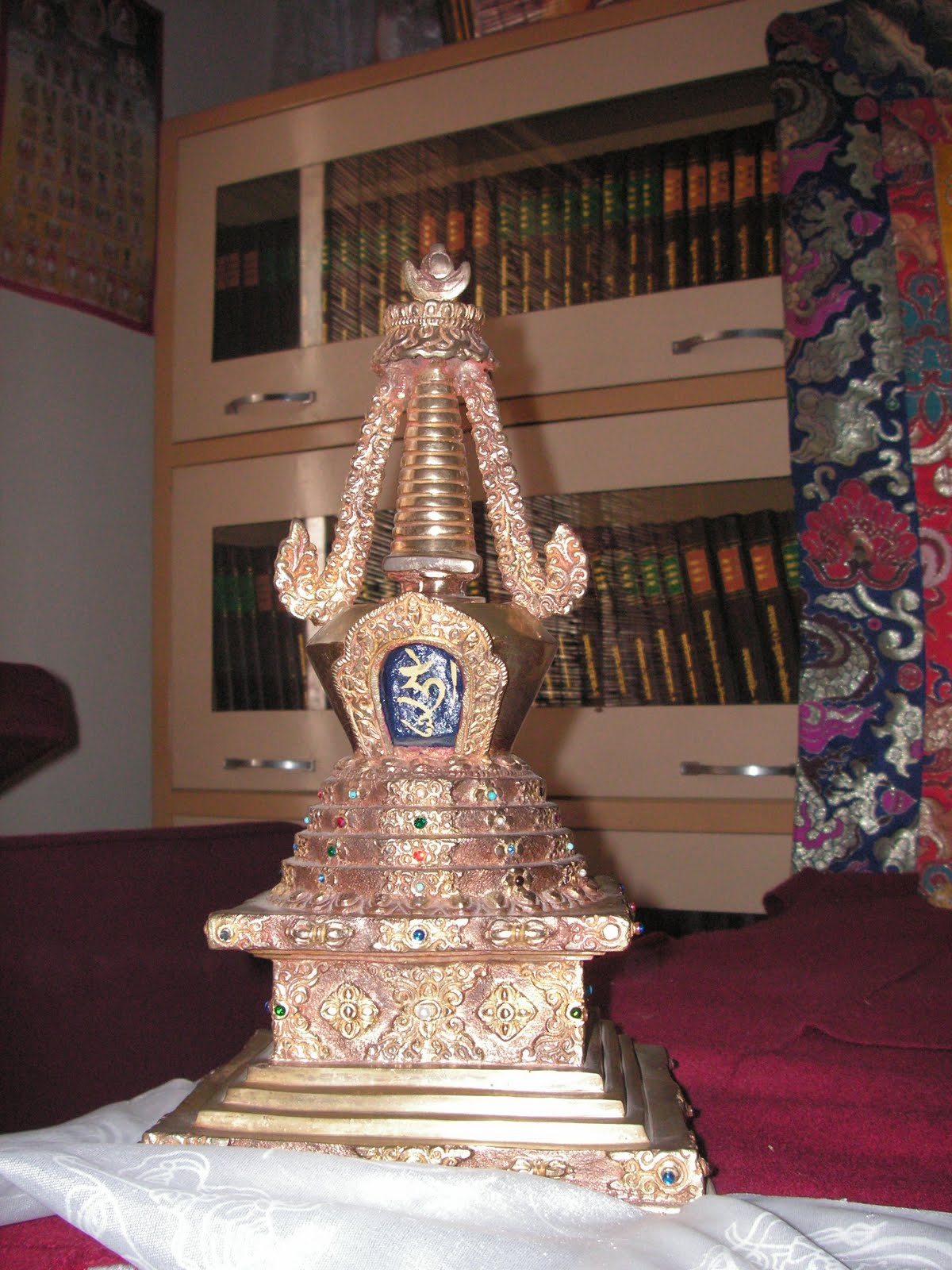 Namgyalma Stupa at Choe Khor Sum Ling Study Group, Bangalore, India.