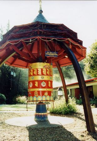 Prayer wheel at Land of Medicine Buddha.