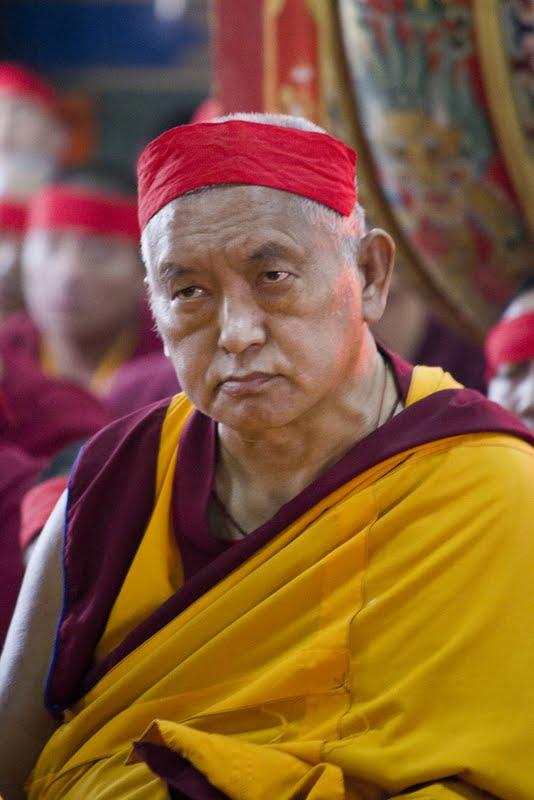 Lama Zopa Rinpoche during Wangya Norbu Tangwa initations, Dheradun, 2012. Photo by Sakya Drolma Phodrang