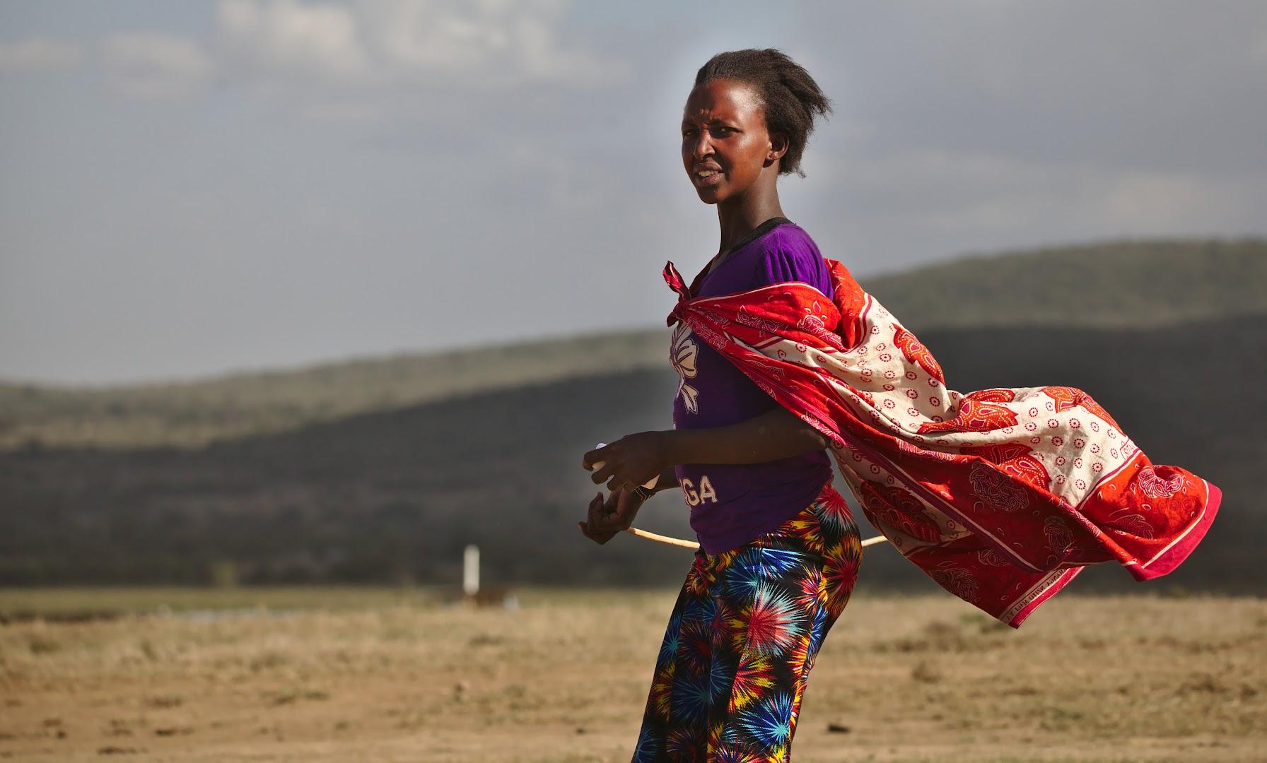 A Kenyan shepherd girl