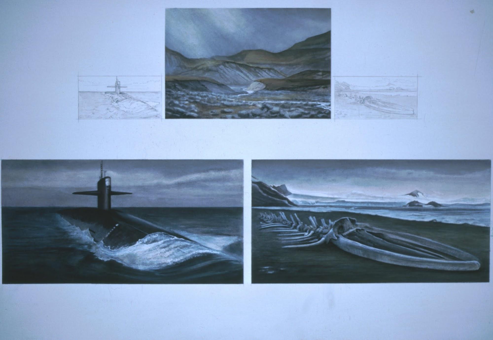 Grenzenlos wie Gedanken   1988   Aquarell   52 x 80 cm