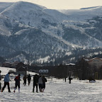 Still not enough snow for snowboarding in Bakuriani...