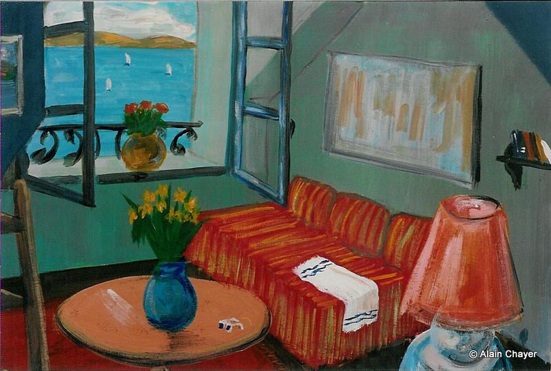 017 - La Mansarde - 1992 92 x 73 - Acrylique sur toile