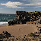 The only beach in Iceland with yellow sand, but the wind is too cold to swim :-)