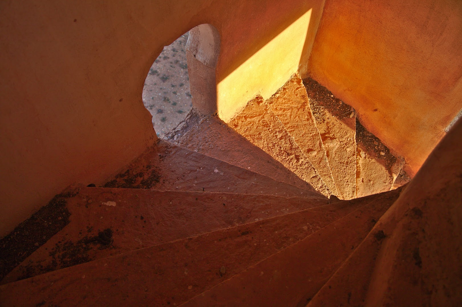 Stairway from the devine world back to Earth