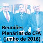 Reuniões Plenárias do CFA (junho de 2016)