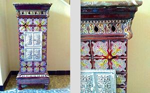Изумительная антикварная керамическая печь. ок.1890 г. Высота 120 см. 4500 евро.