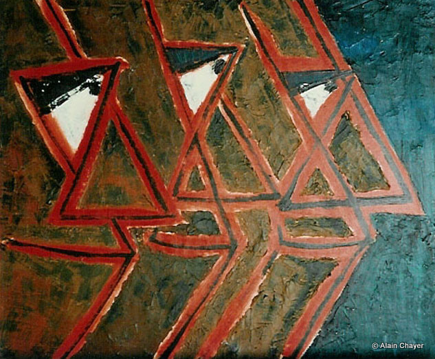 046 - Les Rois Mages - 1993 55 x 46 - Acrylique sur toile