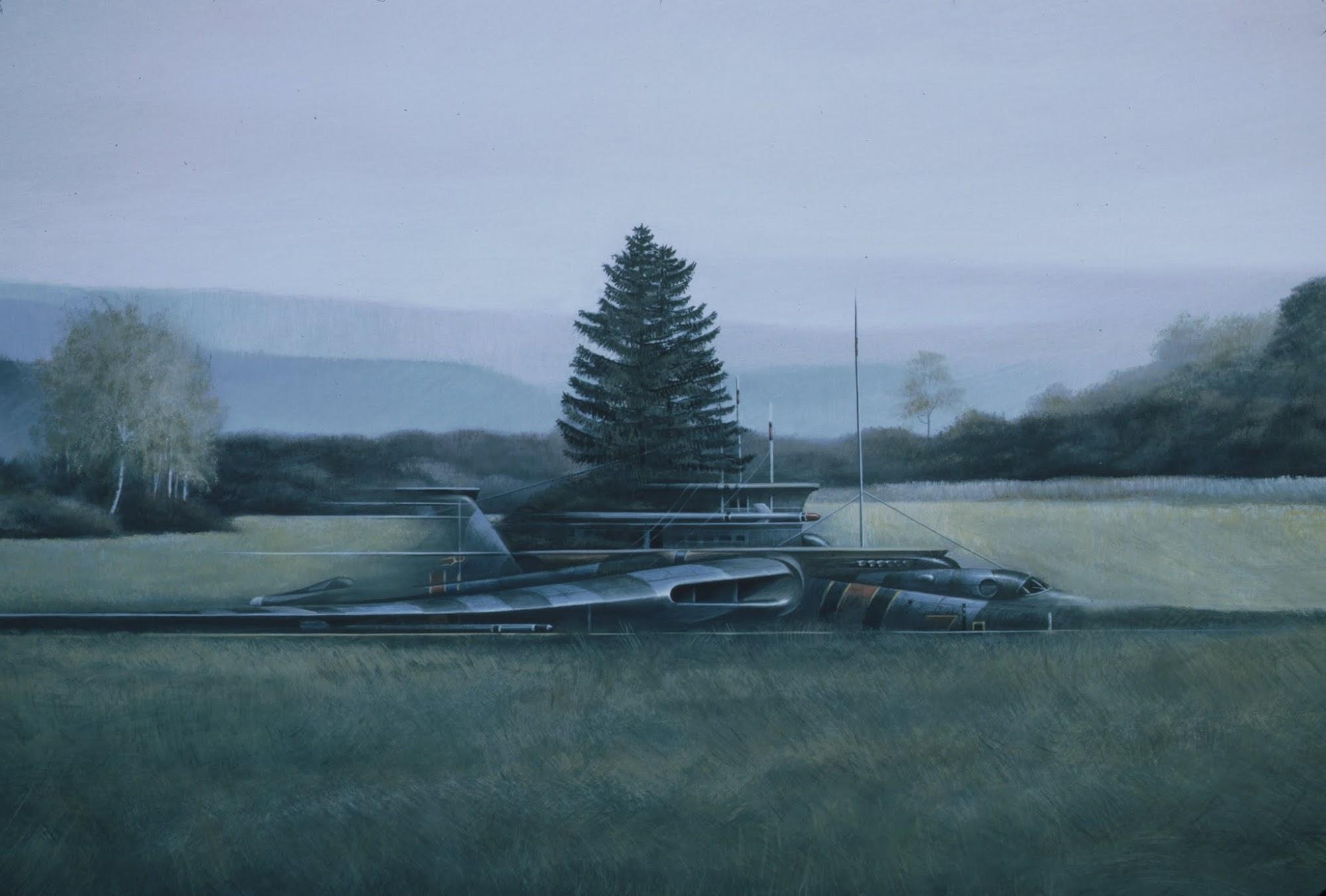 Die Ruhewiese   1984   Eitempera auf Holz   73 x 120 cm