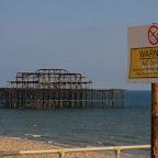 Burned down west pier
