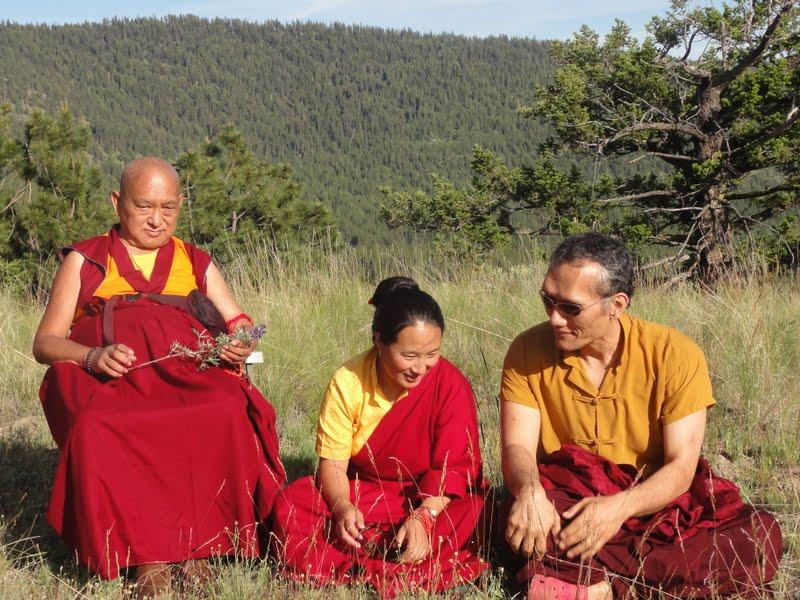 Lama Zopa Rinpoche, Khadro la and Yangsi Rinpoche at Buddha Amitabha Pure Land, WA