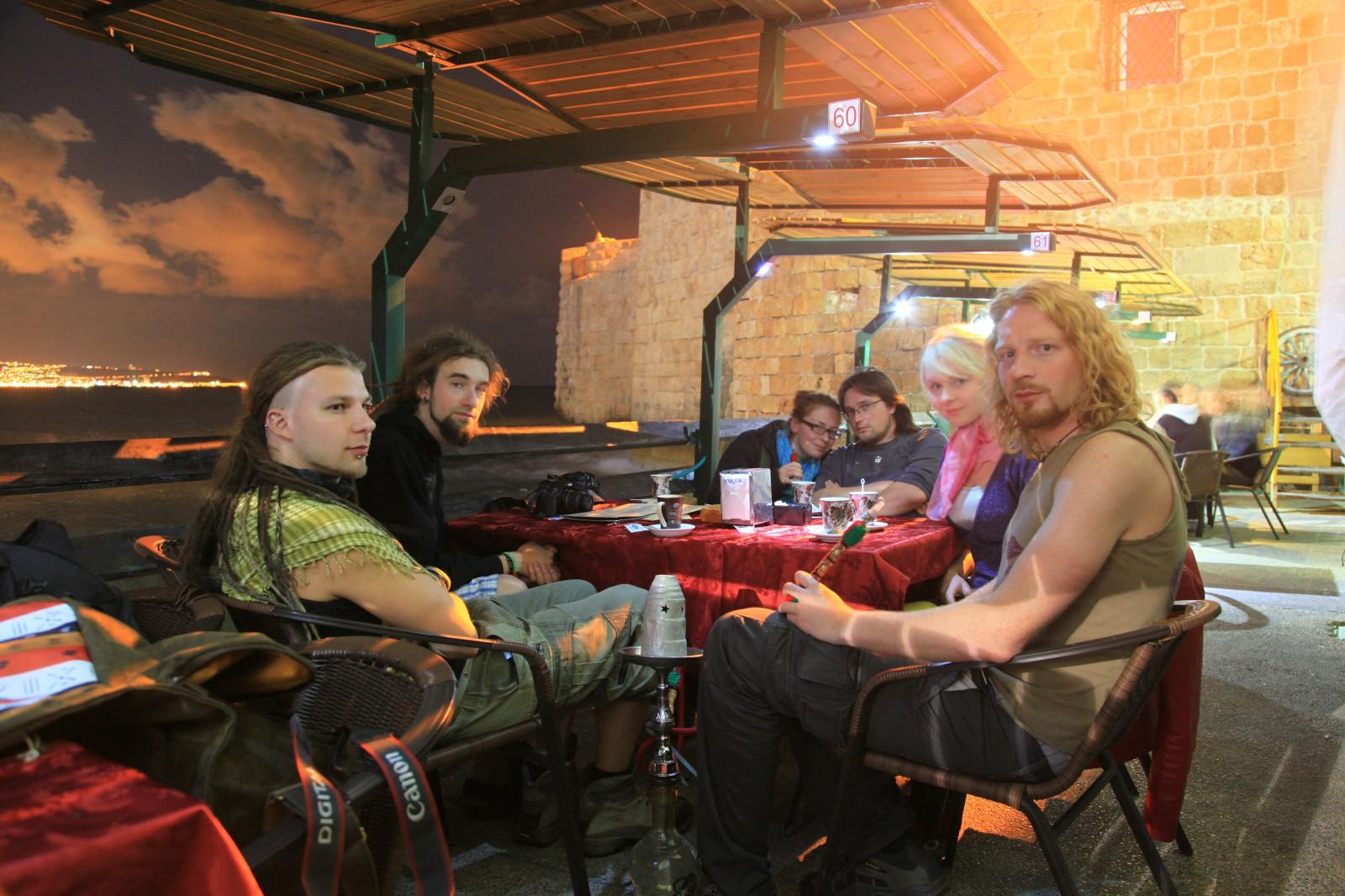 At a shisha bar