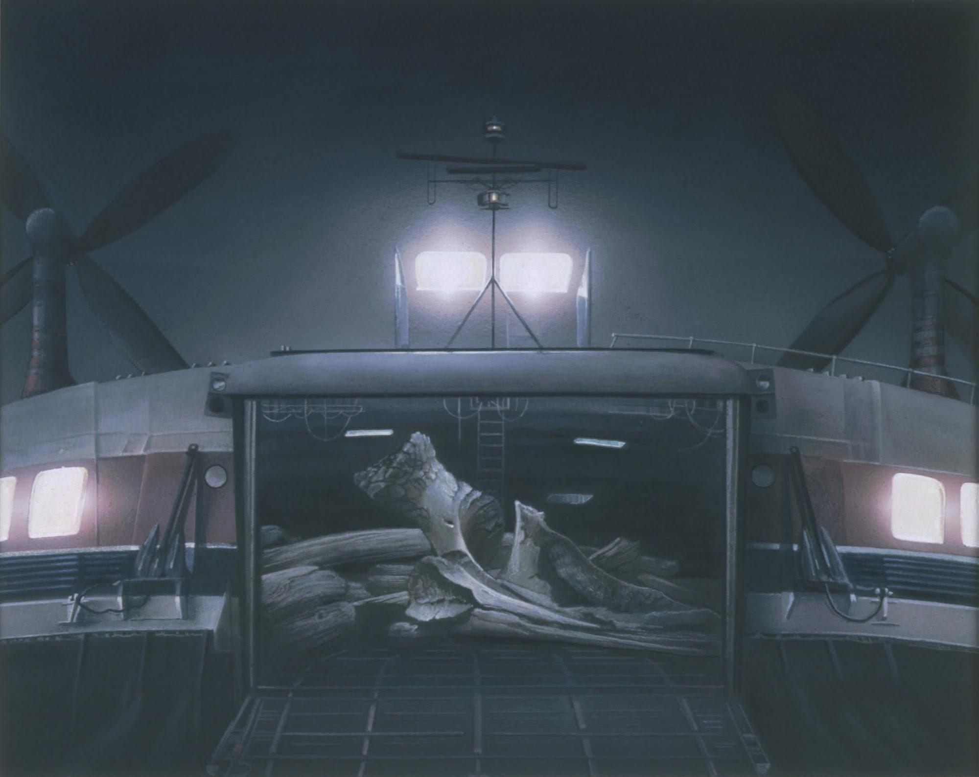Arche (Noah) / Entwurf   1987   Aquarell   3-teilig   44 x 88 cm