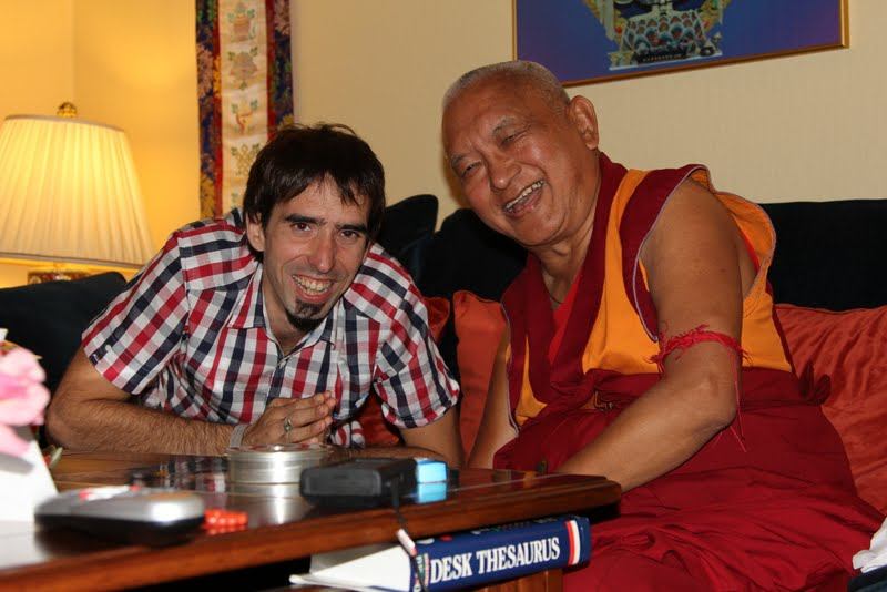 Osel with Rinpoche