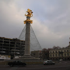 The Freedom Square is not quite a square, but a big roundabout