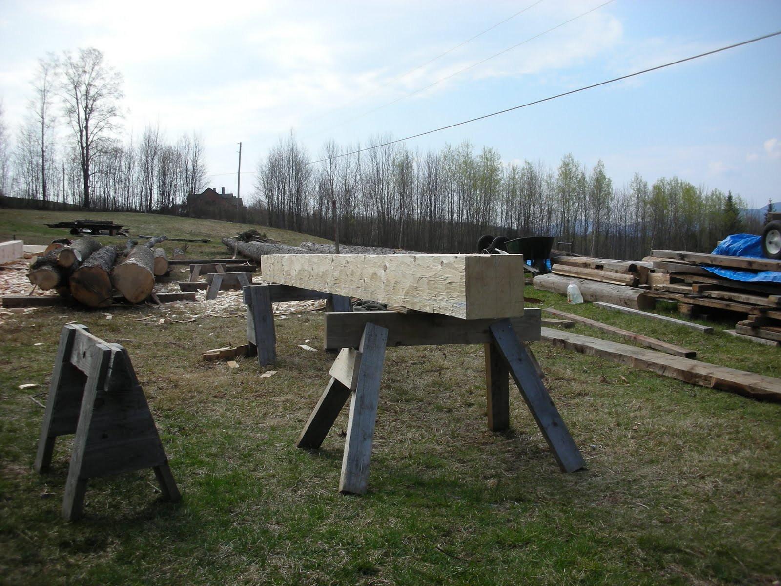 Here is the finished post timber.