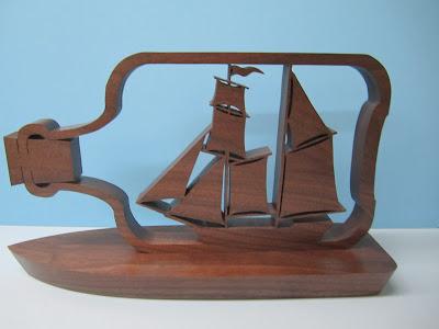 Ship In a Bottle Black Walnut