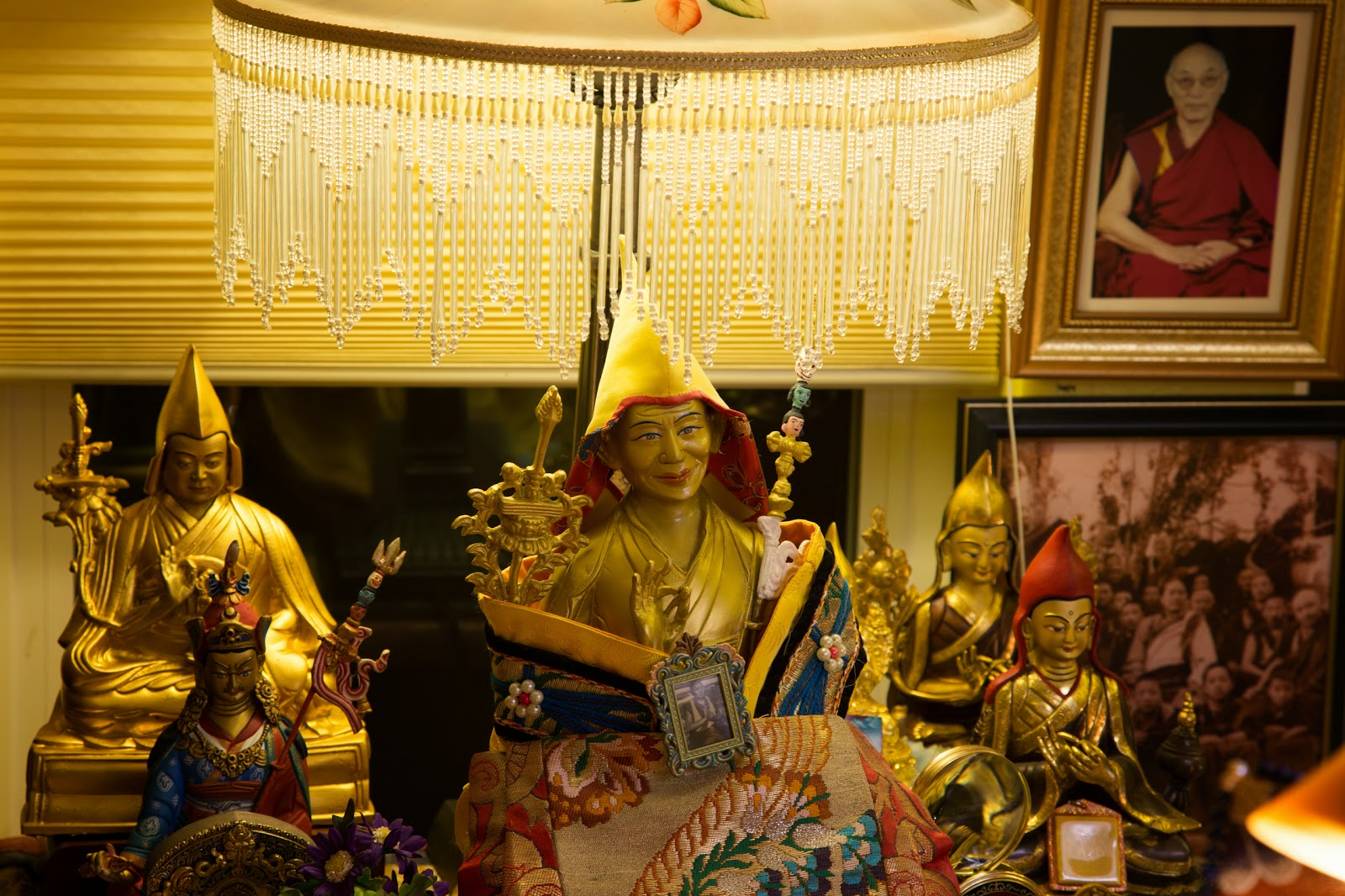 Statues in the Prajnaparamita room. Photo by Ven. Thubten Kunsang.