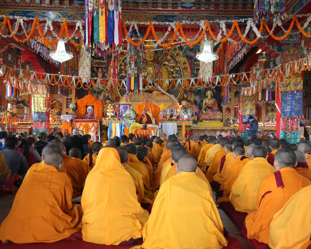 Long life puja for Lama Zopa Rinpoche offered on behalf of the entire FPMT organization, Kopan Monastery, Nepal, December 2014. Photo by Ven. Thubten Kunsang.