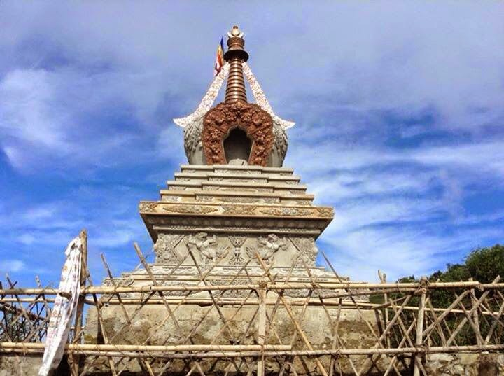 Enlightenment Stupa (21 ft), Lalitpure District, Nepal (built by Losang Namgyal Rinpoche)