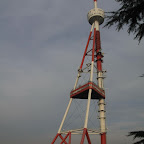 """""""Eiffel tower"""" according to the locals (more resembling it at night) - Tbilisi has it all!"""