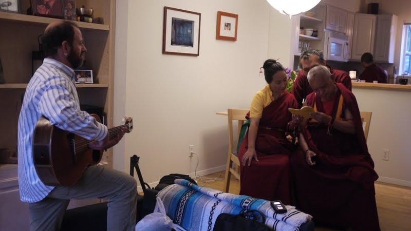 Putting the Wheel of Sharp Weapons to music with Khadro la, Yangsi Rinpoche and Lama Zopa Rinpoche