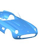 Ferrari 250 3d scan digitisation - cad model bms design ltd reverse engineering