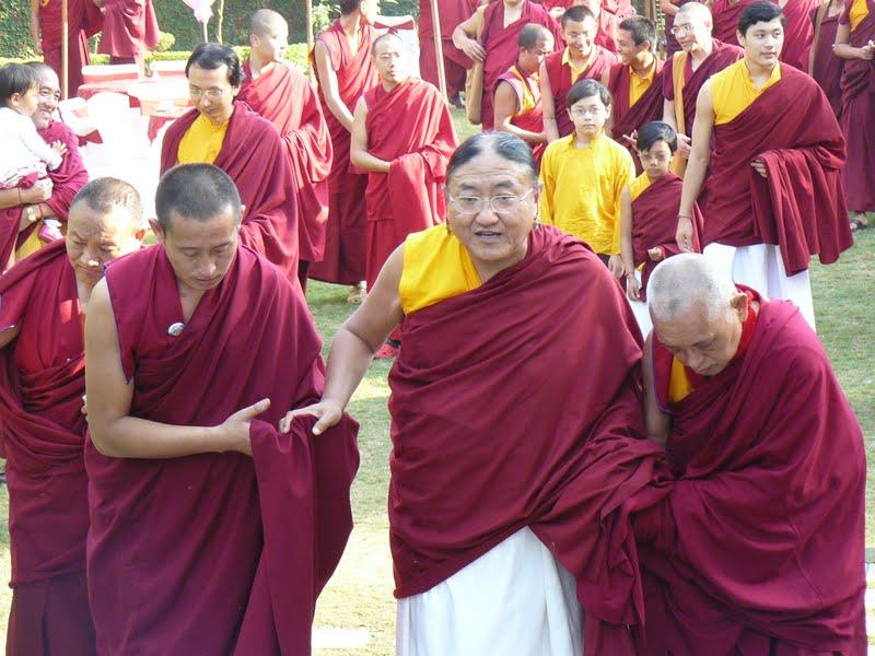 His Holiness the Sakya Trizin with Lama Zopa Rinpoche, Dheradun, 2008