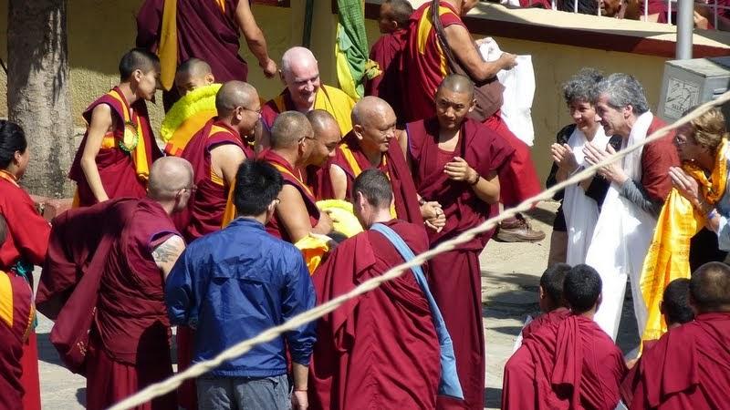 Lama Zopa Rinpoche, Sera Monastery, India, December 24, 2013. Photo by Melissa Mouldin.