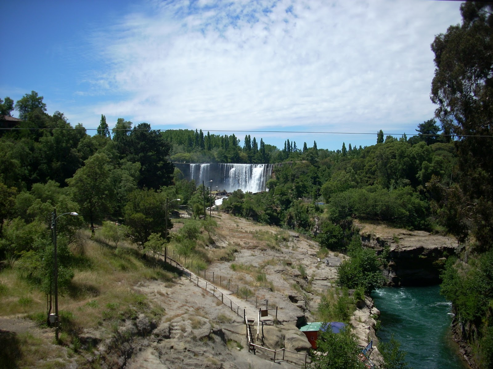 Salta del Lajos, a waterfall where I stopped to camp