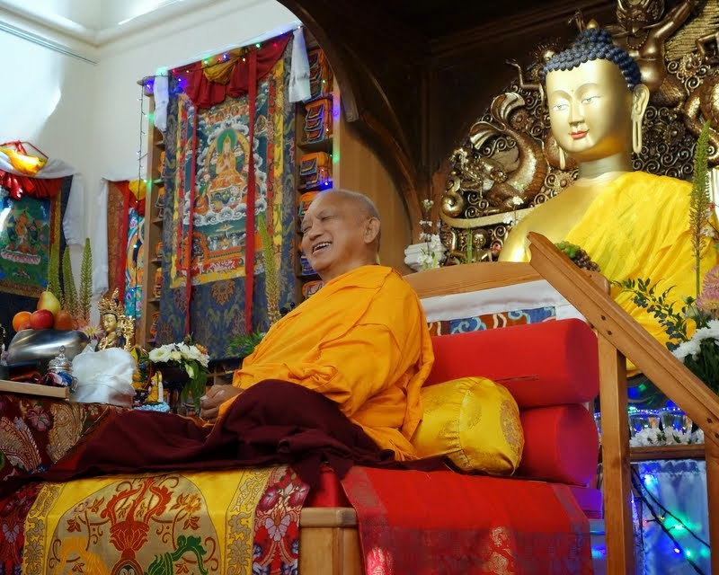 Lama Zopa Rinpoche teachings at Jamyang Buddhist Centre, London, UK, July 2014. Photo by Ven. Roger Kunsang.
