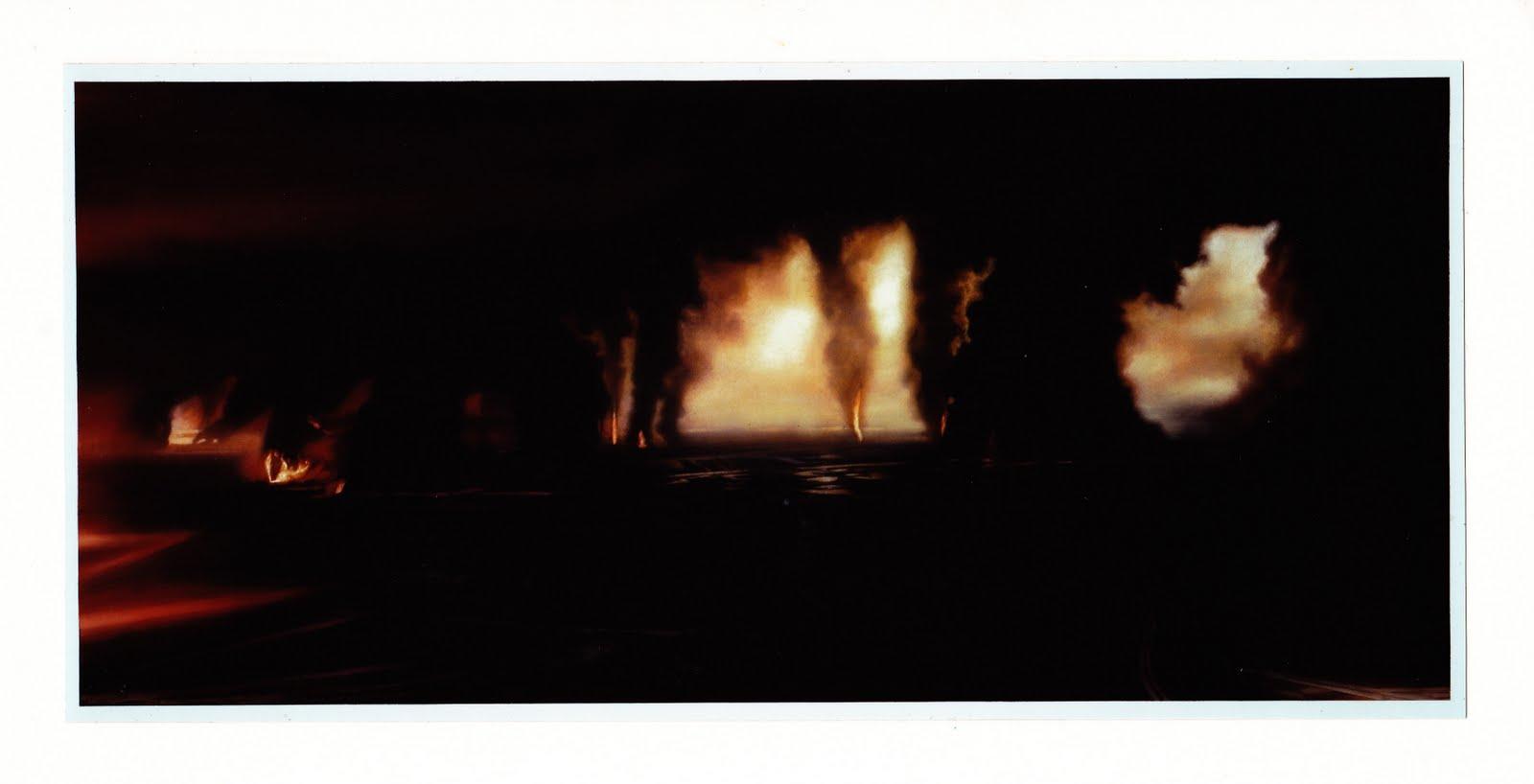 Wege der Finsternis   1999   Aquarell   82 x 180 cm